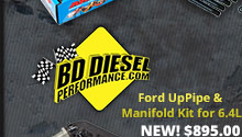 bd ford uppipe and manifold kit for 6.4l