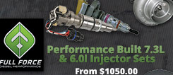 full force injector set for 7.3l and 6.0l
